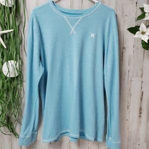 Hurley Light Blue Long Sleeve Pullover Shirt
